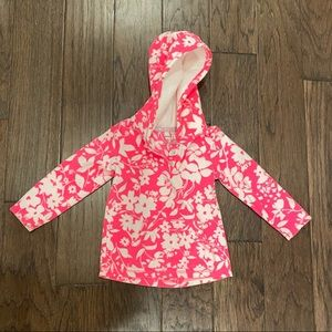 Girl Size 3T Carter's Pink & White Floral Hoodie